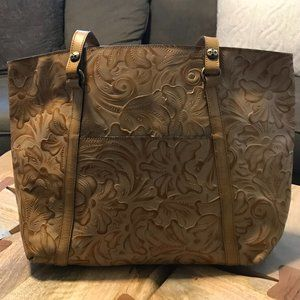Patricia Nash Treviso Tooled Leather Tote